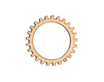 Plywood SteamPunk Gears, Craft Gears, Wood Gears, Laser Cut - 1qty - 4 Inch (10.16cm) - Open Gear -