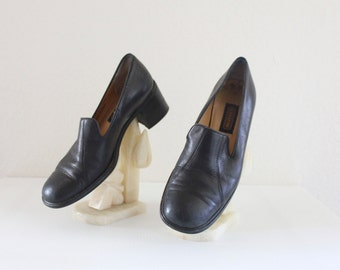 Vintage Coach Italian Leather Loafers Sz 7.5B