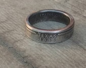 Coin Ring USA Coin Jewelry US Coins State Quarter ring Silver ring Band Silver rings for men mens pinky ring promise ring for him