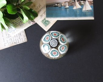 Vintage glass paperweight, Murano glass