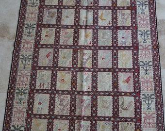 4 by 6 rug / Vintage Oushak Rug / Vintage Rug / Oushak Area Rug / Kilim Rug / Nomadic Rug / Silk Rug / Boho Rug / Persian Rug / Tribal Rug