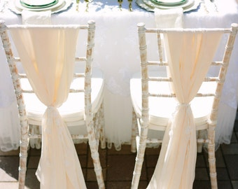 Romantic Chiffon Drape Chair Sash