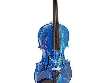 Blue Lightning Violin Outfit