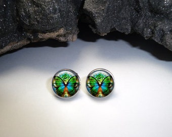Butterfly Earrings, Steampunk Butterfly Earrings, Butterfly Jewelry, Gift for Her, Butterfly Studs, Butterfly Dangled, Butterfly Accessories