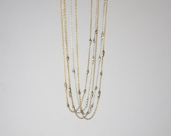 Code Necklace Gold Beaded Necklace Personalized Necklace Dainty Silver Necklace