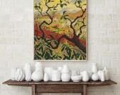 Counted Cross Stitch PATTERN Japanese Style Landscape by Paul Ranson, Cross Stitch Chart