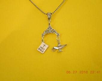 Thy Word is a Lamp Unto my Feet ( scripture necklace)