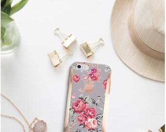 Platinum Edition Richmond Rose Gray Hybrid Hard Case Otterbox Symmetry iPhone 6/6s / 6s Plus / Galaxy S6 / S7 / S7 Edge