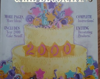 Wilton Cake Decorating Yearbook 2000 Special Millennium Edition Includes Millennium Cake  Stencil Wedding Cakes Birthday Cakes