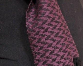 Handwoven Purple Herringbone Scarf