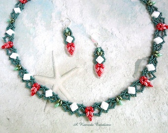 Fashion Beaded Jewelry Colorful Beaded Collar Necklace Set Beadweave Jewlery Set Seed Bead Jewelry Women's Gift for Her Beadwork Jewelry