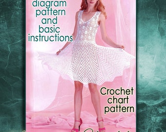 Instant download wedding dress crochet pattern english crochet instant download white dress crochet pattern english crochet diagram and basic instructions symbols are not interpreted in words ccuart Choice Image