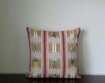 Decorative Pillows, Beige Ikat Embroidered Pillows, Square & Rectangle Pillow Covers, Available in 4 Sizes- READY TO SHIP