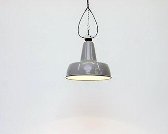"Pendant industrial  lamp , in metal :""Otarie""."