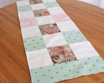 Valentines Cupid Patchwork Table Runner