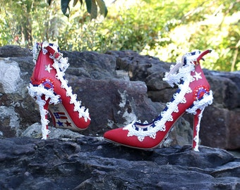 Red Shoes - Red Wedding Shoes - Shoes For Women - Prom Shoes - Bachelorette Party - Ladies Shoes - Wedding Accessories