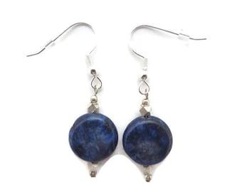 Royal Blue Earrings, Lapis Lazuli Earrings, Dark Blue Earrings, Lapis Earrings, Cobalt Blue Earrings, Lapis Dangle Earrings, Navy Earring