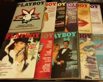 Vintage 1979 Playboy Magazine (11 Issues)