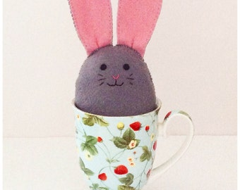 Bunny Softie PDF Sewing Pattern and Tutorial, Instant Download, Easy Step-by-Step Instructions - Felt Bunny