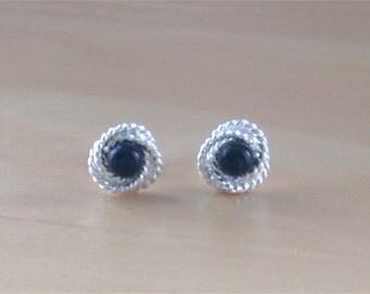 925 Black Onyx Stud Earrings/Sterling Silver Black Onyx Earrings/Black Onyx Jewellery/Black Onyx Jewelry/Black Onyx Jewelery/Black Earrings