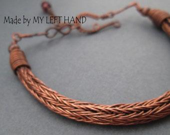 Copper bracelet Viking knit bracelet Torque bracelet Copper jewelry Wire wrapped bracelet Woven bracelet Bangle bracelet Viking jewelry