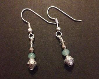 Wintery drop earrings