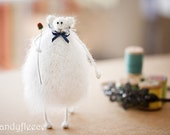 Mohair Knitted Rat/Mouse-Knitted Rat Toy-Wool Rat-Knitted Mouse Toy-Knitted Animal-Valentine's Home Decoration-White Rat Doll-Candyfleece UK