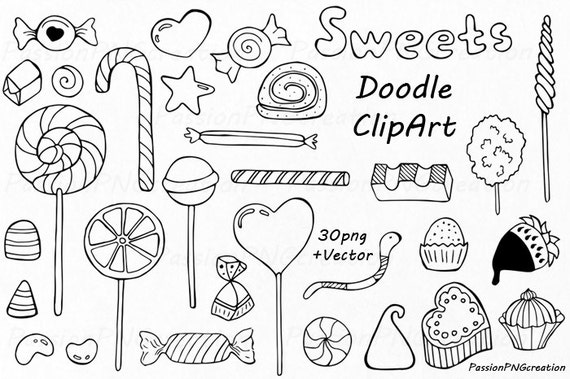Doodle Sweets clipart Candy clip