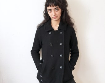 Vintage black DKNY peacoat Small