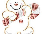 Gingerbread Man Rhinestone Bling Tshirt  bling tshirts rhinestone tshirts bling shirts Christmas bling shirts bling transfers Traditional