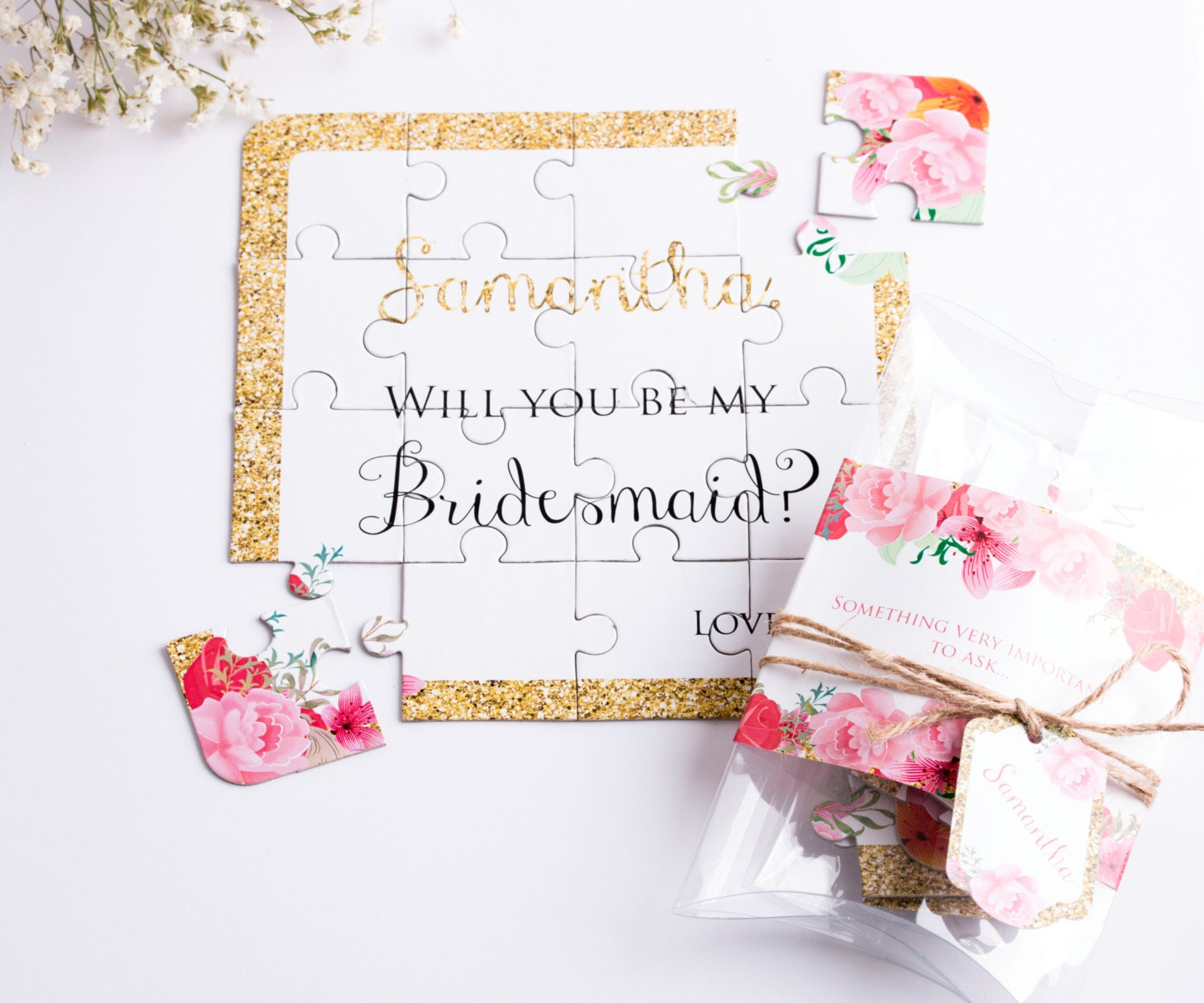 Bridesmaid Proposal Puzzle. Bridesmaids Gift Wedding