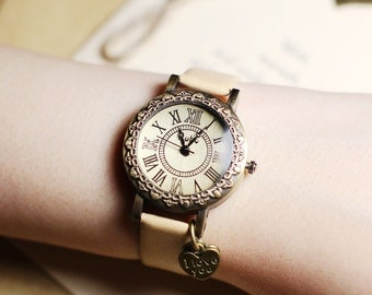Love letter,Wrist watch, Women watch, Leather Watch ,Birthday gift, Special gift