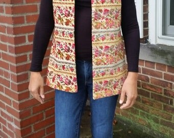 60's Multicolor Tapestry Vest by Aladdin
