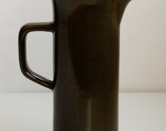 Mid Century Modern Style Green Ceramic Coffee Pot - earthenware 1970
