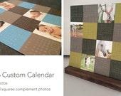 SALE -- Custom Photo Calendar // Photo Desk Calendar // Calendar with Stand // Custom Wall Calendar // Year at a Glance Calendar