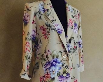 Vintage Floral 80's Blazer