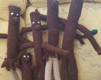 Stick Man & Family Crochet Plushs