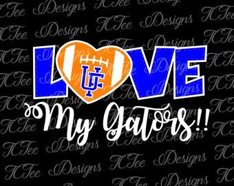 Love My Florida Gators - College Football SVG File - Vector Design Download - Cut File