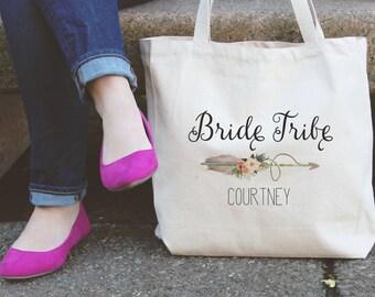 Bride Tribe Bridesmaids Tote Bag Natural Tote Bag Wedding Tote Bad Wedding Party Tote Tote bag Personalized Tote Bag Bride Tribe Tote