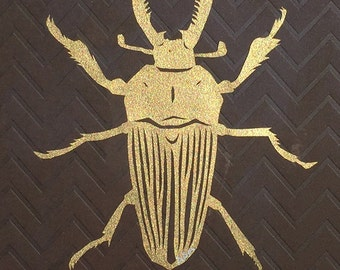 Hand Cut Stag Beetle