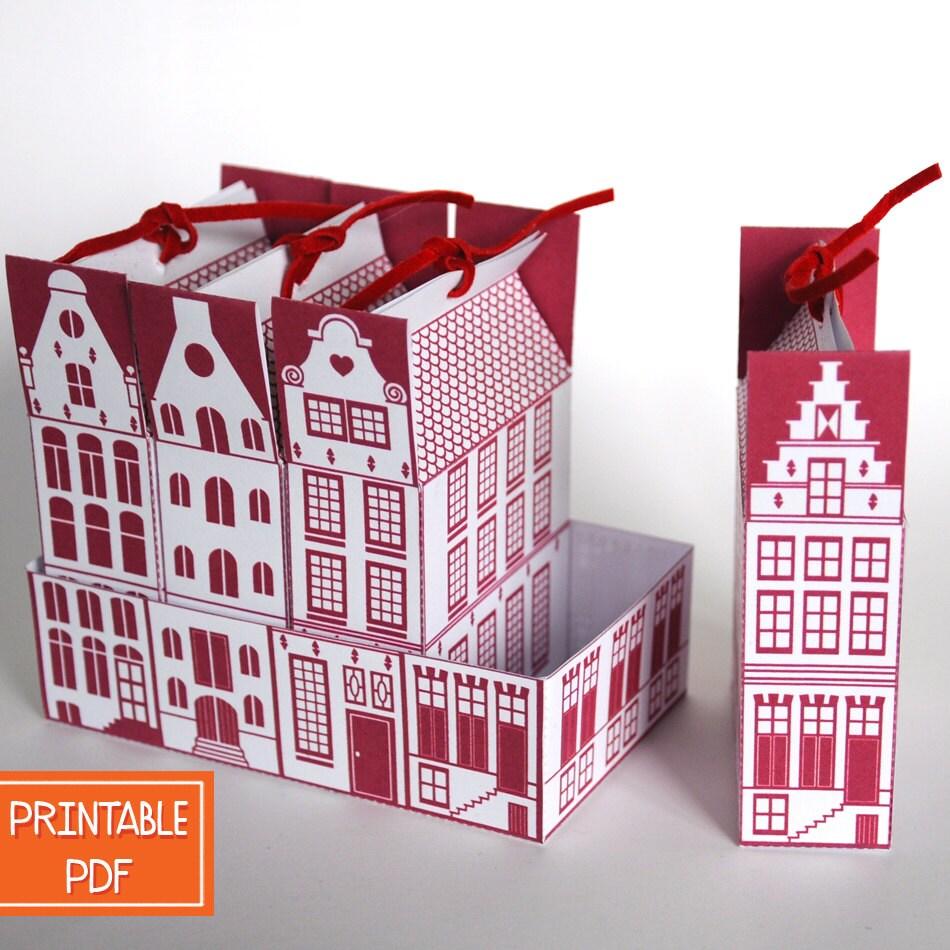 Diy Christmas Favor Boxes : Diy gift box dutch canal house christmas