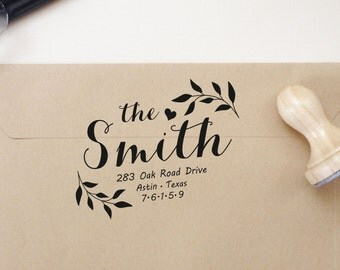 Wedding Return Address Stamp  Wedding Rubber Stamp Wedding Personalized  Stamp