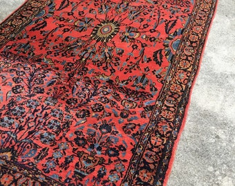 "Fine Antique Persian Lilihan Sarouk Rug 5'4""x 10'6"" exquisite"