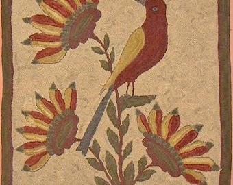 1835 Fraktur Rug Hooking Pattern