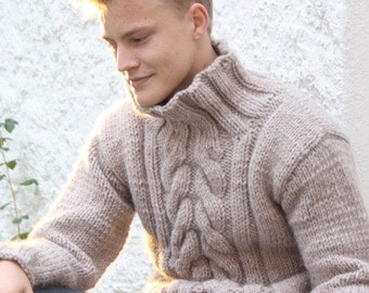 Hand knit sweater | Etsy