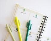 Cactus Gel Pen • Planner Pens