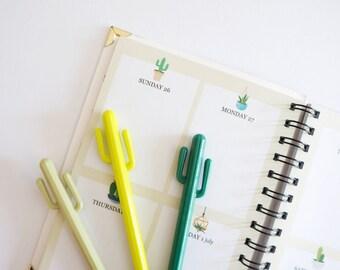 Cactus Gel Pen (Black Ink) • Planner Pens