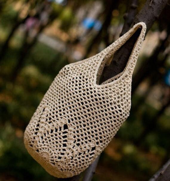 Crochet Tote PATTERN - Pineapple Market Purse Tote Bag Pattern- Beach ...