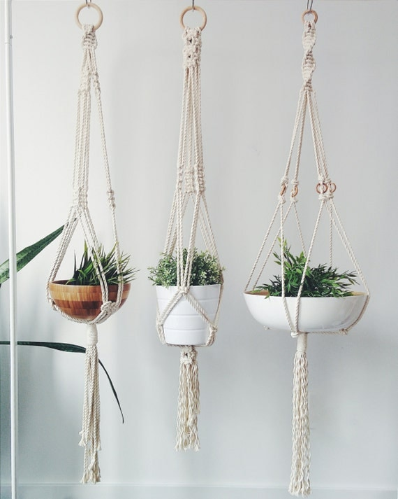 macrame plant hanger by isabelsdesignstudio on etsy