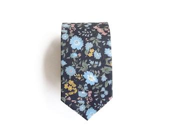 Paul Floral Men's Tie, Skinny Tie
